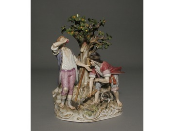 A large Meissen figure group.