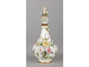 A Rockingham scent bottle with pear-s...
