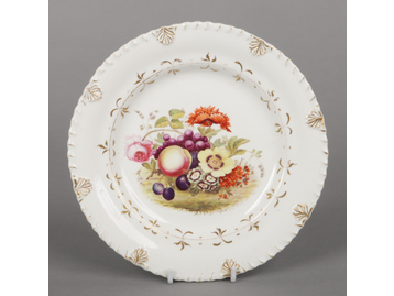 A Rockingham dessert plate with anthe...
