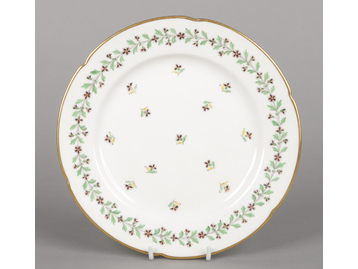 A Rockingham lobed dessert plate with...