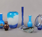 A collection of decorative art glass ...