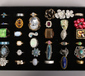 A display case of 36 dress rings to i...