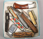 A box of pen knives to include horn h...