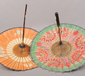 Two Chinese parasols decorated with c...