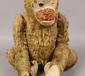 A vintage jointed mohair monkey....