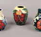 Three Moorcroft vases including one d...