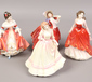 Four Royal Doulton ceramic lady figur...