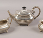 A Victorian silver three part tea set...