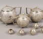 An Indian silver tea service of spher...