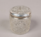 A Reynolds angels silver topped jar, ...