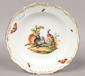 A hand painted gilt boarded Meissen c...