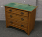 A Victorian satinwood chest of three ...