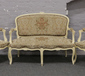 A French cream painted salon suite wi...