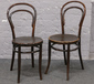 A pair of Bentwood chairs....