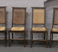A set of four rush seat bergere back ...