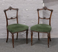 A pair of Victorian mahogany salon ch...