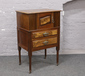 A mahogany and walnut cupboard, raise...