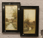 A pair of ebonised framed George Oyst...
