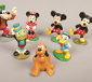 Seven painted lead figures of Disney ...