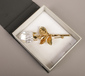 A cased Swarovski style brooch in the...