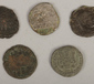 Five Roman coins to include silver ex...