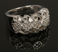 A 9ct white gold and diamond ring wit...