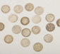 A quantity of silver 3 pences approx ...
