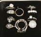 A silver Pandora ring and 11 other si...