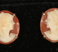 A pair of 9ct gold cameo stud earring...