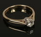 A ladies 9ct gold diamond solitaire r...