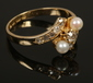 A Victorian 18ct gold pearl and rose ...