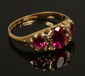 An Edwardian 18ct gold ring, set with...