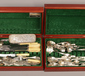 Two Oneida cutlery cases and mixed cu...
