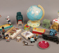 A box of vintage and later toys inclu...