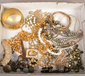 A box of costume jewellery to include...
