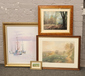 A quantity of paintings and prints to...