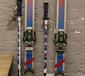 A pair of Dynastar skis and poles....