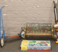 A child's garden bench, vintage Bante...