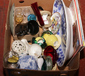 A box of miscellaneous ceramics and g...