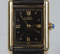 A cased silver gilt quartz Cartier wr...