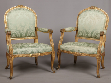 A pair of mid 19th century English giltw