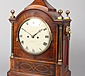 A Regency inlaid mahogany bracket clock.