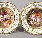 A fine pair of Rockingham dessert plates