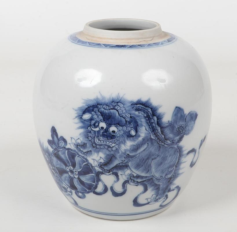 An 18th century Chinese blue and white g