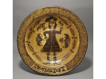 An antique slipware charger.