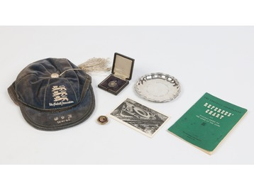 Laurie Scott football memorabilia.