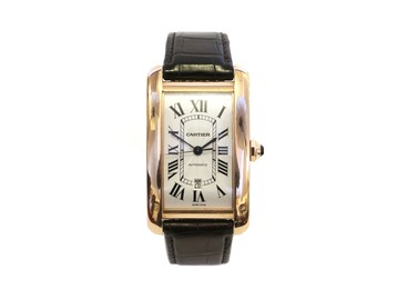 A gentlemans Cartier automatic watch.