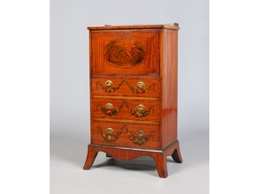 A ladies Regency satinwood escritoire.
