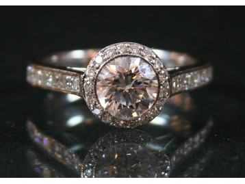 A Tiffany & Co diamond ring.