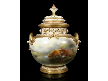 John Stinton Royal Worcester urn.